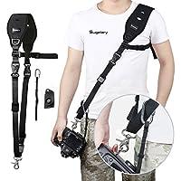 Correa camara, Sugelary Correa de hombro para Cámara Digital de Neopreno Nylon Negro para Canon, Nikon, Sony, DSLR SLR Camara Compacta
