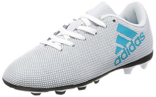 adidas Unisex-Kinder X 17.4 Fxg Fußballschuhe Weiß (Footwear White/energy Blue/clear Grey)