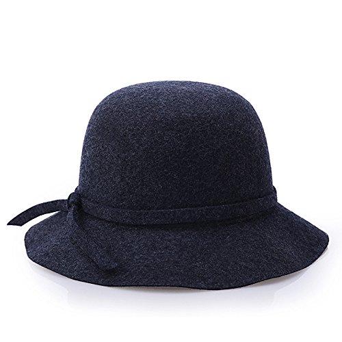 MEICHEN-cupola d'onda Hat hats ladies pura lana tessuto bouclé con colori solidi Hat fisherman Hat (Patterns Knit Bambini Cappelli)