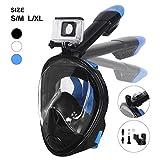 Unigear Tauchmaske, Faltbare Schnorchelmaske Tauchermaske Vollgesichtsmaske, mit 180 Grad Blickfeld...