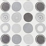 Fabulous Fabrics Vorhangstoff Kreise - grau - Meterware ab