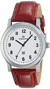 Maxima Analog White Dial Men's Watch - O-44688LMGI