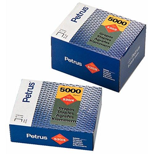 Petrus M44354 Boîte de 5000 agrafes 530-8
