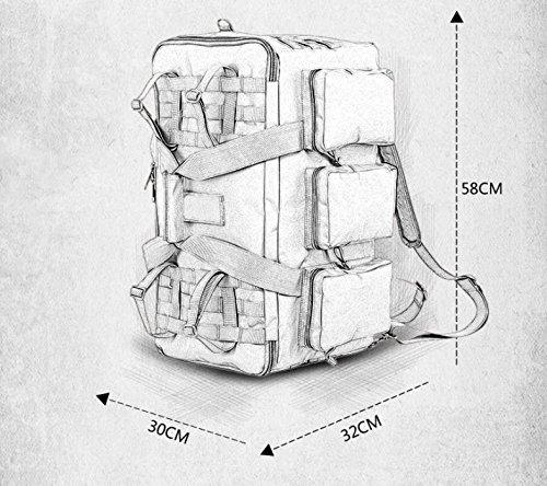 BM Super capacità arrampicata borsa zaino zaino viaggi a lunga distanza all'aperto zaino impermeabile borse da viaggio , wolf brown army green