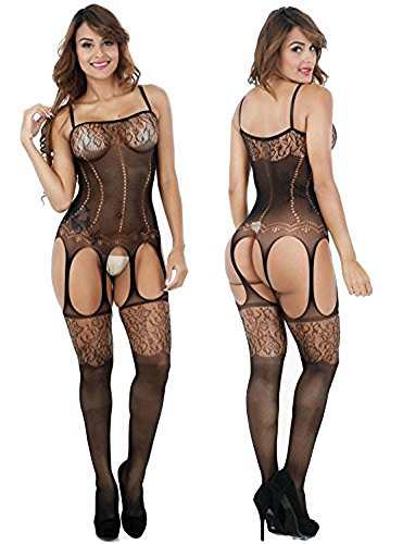 Netz Anzug, Damen, schwarze Spitze, durchsichtige Strumpfhose, Gr. S/M 34,36,38 Ganzkörper, langarm, Netz Strumpfhose, sexy, Fetisch Catsuit 84