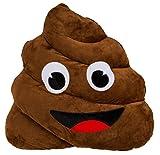 CBK-MS XXL Kackhaufen ca. 50 cm Plüsch Dekokissen Emoji Poo Emoticon Sofakissen Kuschelkissen Schmusekissen