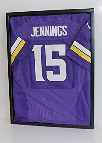 UV Protection Football Baseball Hockey Jersey Uniform Display Case Shadow Box, ULTRA CLEAR, JC24C by DisplayGifts