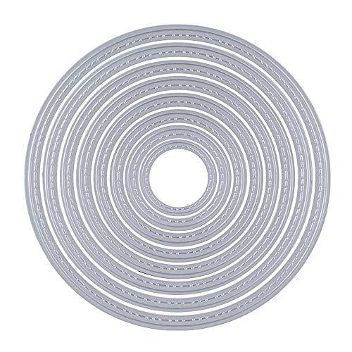 Aeromdale Kreis Metall Stanzformen Scrapbooking DIY Kreis-Schablone -Album Stanzschablone Schneiden quadratische Prägekartenalbum Schablonen Prägeschablone Handwerk