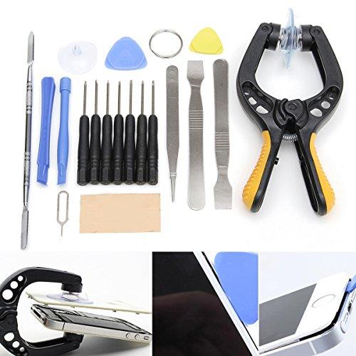 DADEQISH 19 in 1 Telefon LCD Bildschirm Öffnungswerkzeug Zange Saugnapf Pry Spudger Repair Kit Set Werkzeugzubehör