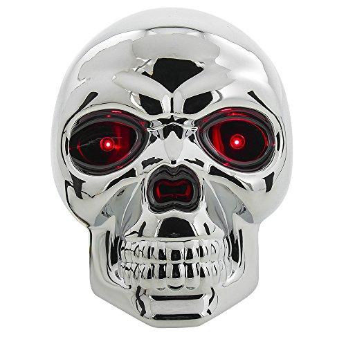Bully Totenkopf Abdeckung für Anhängerkupplung mit LED-Lichtern (Bully-receiver Hitch Cover)
