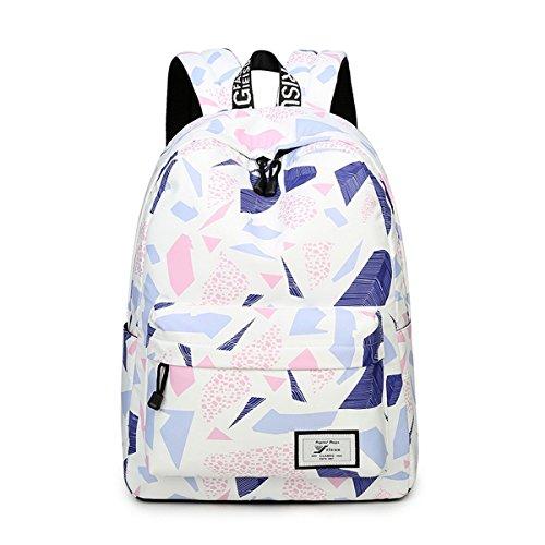 Imagen de joymoze moderna  de ocio para niñas  escolar para adolescentes  bolso estampado para mujer beige 851
