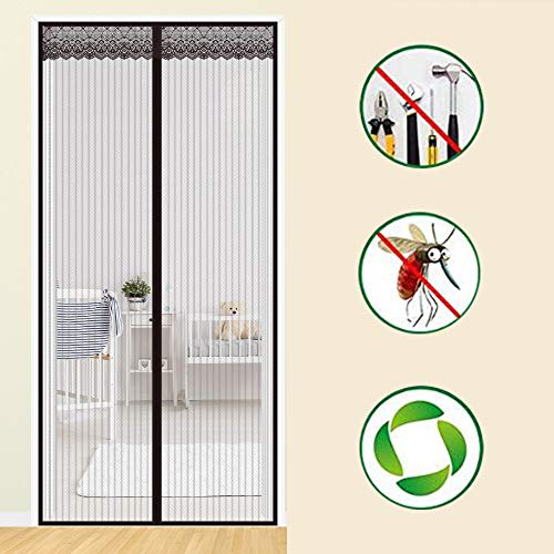 Multi-stripe Mesh (Stripe Fliegengitter Tür,full Frame Magic Tape Mute Mesh-tür Bildschirm Anti-moskito-bugs Mesh-vorhang-hände Frei -b 80x210cm(31x83inch))
