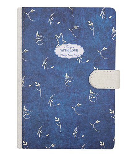 hossty Hardcover Notebook Süße Floral Dicke Notizblock Schreiben, Tagebuch, Magnetverschluss, 128Blatt liniertes Papier, 18,5x 12,7cm für Reisen, persönliche (Bei Blutungen Mädchen)