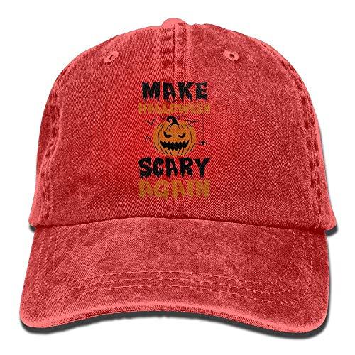 FGHJKL Make Halloween Scary Again Unisex Trucker Hats Dad Baseball Hats Driver Cap