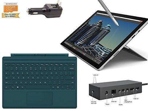 "Preisvergleich Produktbild 2015 Newest Microsoft Surface Pro 4 Core M 4G 128GB 12.3"" touch screen with 2736x1824 3K QHD Windows 10 Pro Multi-position Kickstand (Teal Cover ,  Dock Bundle)"