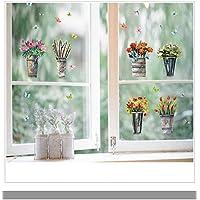 Pegatina pared macetas mariposas para ventanas escaparates dormitorios infantiles bebes guarderias recibidores de OPEN BUY