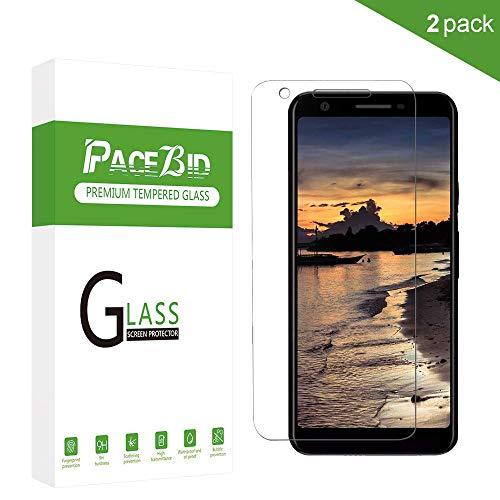 PaceBid [2 Stück Google Pixel 3a XL Panzerglas Schutzfolie, Tempered Glass [9H Härte] [Anti-Fingerabdruck] [Ultra-klar] Panzerglasfolie Displayschutzfolie Für Google Pixel 3a XL
