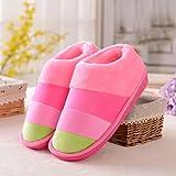 Inicio antideslizante Gruesa de la Base Mantenga flip flop cálido algodón zapatillas zapatillas de interior ( Tamaño : 36-37 )