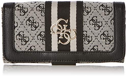 Guess Damen Vintage SLG File Clutch Geldbörse, Weiß (Black) 20x10x2 centimeters