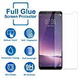 DigiPrints 2.5D Full Screen Guard Shatterproof Edge, Anti-glare, Sensitive Touch, HD display,Tempered Glass Screen Protector for Vivo Y71