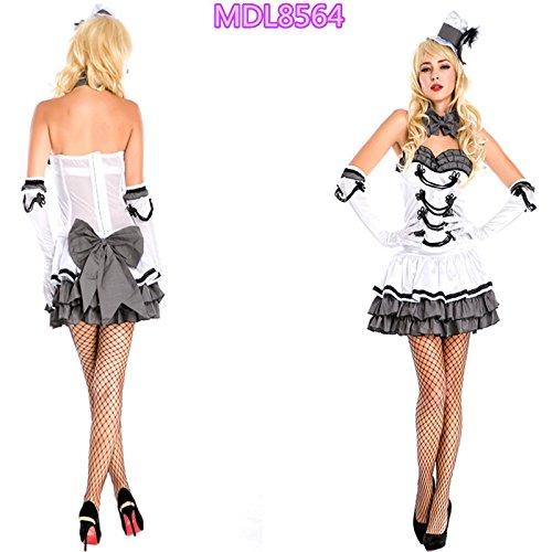 Gorgeous Alice im Wunderland cos Oktoberfest Halloween-Kostüm Prinzessin Rock Trau Outfit Mädchenkleid (Halloween-cos)