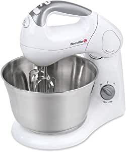 Breville Twin Hand and Stand Mixer,Silver