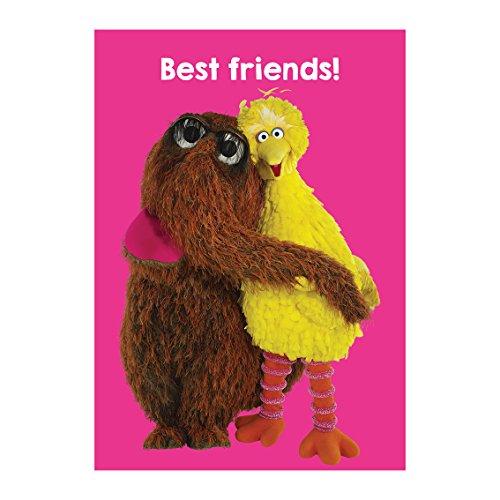 Sesame Street Big Bird & Snuffleupagus Best Friends Grußkarte - Big Bird Snuffleupagus
