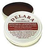 DELARA Intensive Lederpflege, braun, 75 ml - Imprägniert und schützt Leder sehr wirksam Rezeptur mit hochwertigem Kokosöl und Bienenwachs - Made in Germany