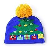 BIKETAFUWY Weihnachten LED Mütze, LED Leuchten Beanie Mütze Strickmütze für Männer Frauen Jungen Mädchen Wintermütze Wintermütze Weihnachtsmütze leuchtende Skimütze Funny Mütze