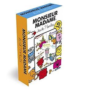 France Cartes404544Monsieur Madame-Juego de Las 7familias (Idioma español no garantizado)