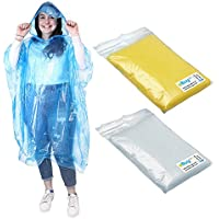 eBuyGB AMAZING VALUE 9 x Assorted Unisex Adult Emergency Waterproof Reusable Rain Ponchos With Hoods - Perfect For Festivals, Camping & Theme Parks