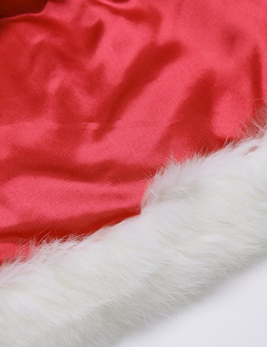 Avidlove Damen Weihnachtsset Dessous Set Cosplay Neckholder BH Mini Rock aus Stain Reizwäsche Reizvolle Lingerie Weihnachtsmütze Chrismas Kostume Rot