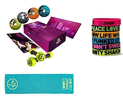 Zumba Fitness® Exhilarate,4 DVD Deutsch, + Sporthandtuch + Tonning Sticks + Powerarmbänder zumba fitness zumba video zumba