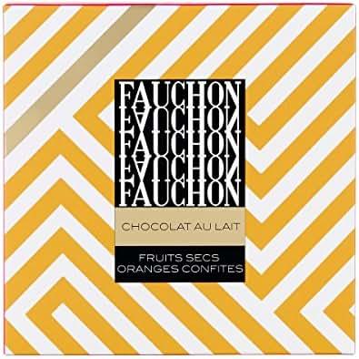 Fauchon - Chocolat au lait aux fruits secs et oranges confites