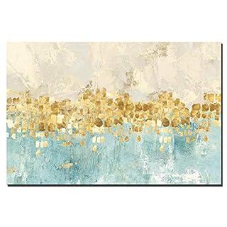 FajerminArt Kunstdruck auf Leinwand abstrakt modern Art Wand-Golden Abstrakte Malerei Leinwand Gemälde Wand Art Decor für Wohnzimmer (Kein Rahmen) Abstrakt 30x40 inch Pc 1371(No Frame)
