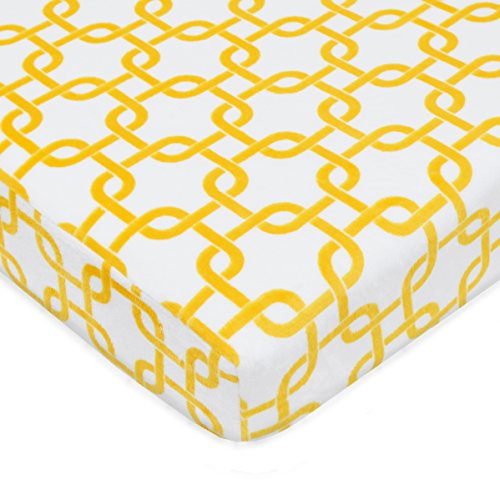 American Baby Company Heavenly Soft chenille Fitted Pack N Play playard Sheet, Golden Other Yellow gotcha, 27 X 39 by American Baby Company