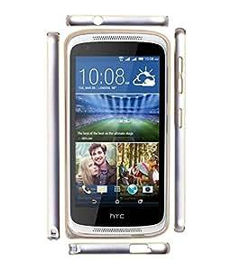 Fuson Premium Dual Tone Metalic Bumper Frame Case For HTC Desire 526G+ dual- GOLD