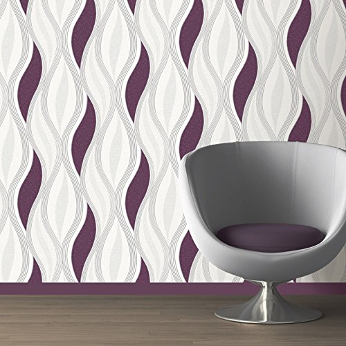 Purple Wallpaper for Bedroom: Amazon.co.uk