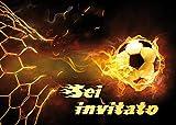 Edition Colibri 10 inviti per Festa di Compleanno; Motivo: Gioco del Calcio / inviti di Compleanno per Bambini / in Italiano (10717 IT)
