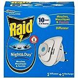 Raid eléctrico night & day difusor moscas, mosquitos tigres (1diff + 1rech... envío rápido y entrecruzado (precio por unidad)