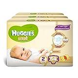 Huggies Pannolini Bebè, Taglia 2 (3-6 kg), 3 Confezioni da 54 [162 Pannolini]