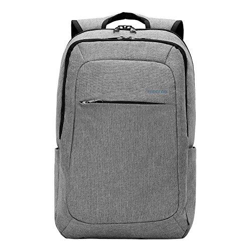 Kopack Slim Business Laptop Waterproof Daypack fits up to 15.6 Inch fabric Grey Backpack