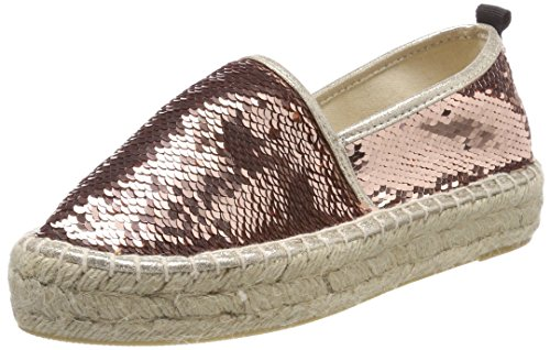 Of Women's Uk Double Espadrille California Colours Sole Pin Sequins Pink 7 In 54RLj3Aq