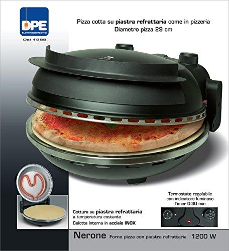 DPE Nerone, forno per pizza da 1200 W con pietra refrattaria