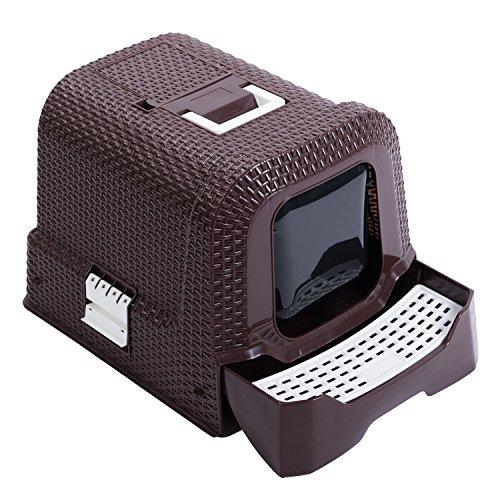 Favorite Arenero para gatos, Gatera portátil grande, Aseo higiénico con cubierta y cajón