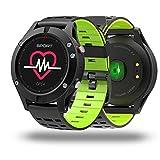 NO.1 F5 Smart Watch GPS ritmo cardíaco altímetro temperatura Múltiples modos de deportes pulsera (Verde)
