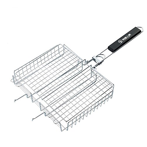 Barbecue en acier inoxydable d'ouest hamburgers carrée pliable barbecue grille net poulet rôti poisson net , primary colors