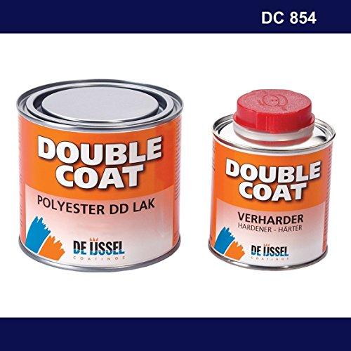 De IJssel Double Coat 2K Bootslack - Farbe Marineblau/DC 854-500 Gramm Set - (Yachtlack, Decklack) Marine blau -