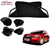 #8: Auto Pearl - Premium Quality Full Foldable Magnetic Zipper Sun Shades Car Curtain For - Chervrolet Cruze - Set of 4 Pcs
