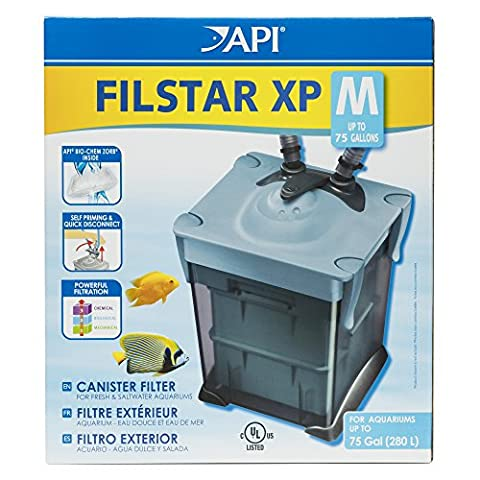 API Rena Filstar XP2 Canister Filter Air Lock System Silent Operation 75gal (Api Filter)